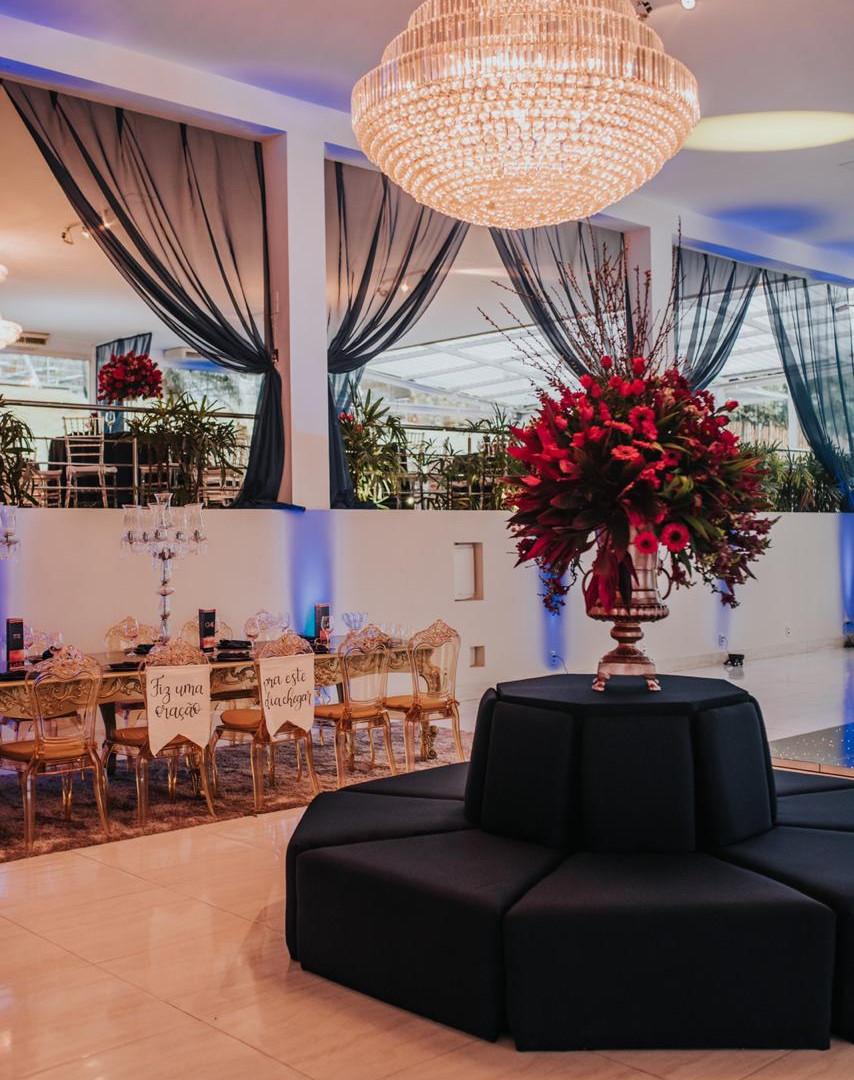 Casamento azul marinho e rosê gold - Lounge 360°