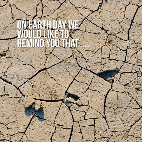 Arte para medios sociales sobre el día de la Tierra