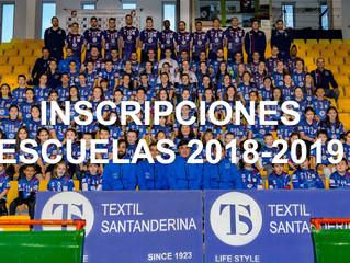 Inscripción escuelas 2018/2019