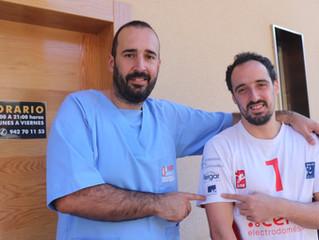 El Centro de Fisioterapia Antonio Parejo, un imprescindible colaborador del Vóley Textil Santanderin