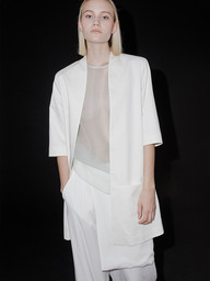 August is an ethical clothing brand combining natural, organic materials with innovative design. Harmony between comfort, practicality, and style is the main concept behind the design process. Founded by an Estonian designer Äli Kargoja (Studio Bercot, Paris), who after gaining experience in the ateliers of Nicolas Andreas Taralis and Maison Martin Margiela returned to her home country, Estonia to go forward with her vision of designing clothes. August has been featured in Schön! Magazine, L'Officiel Spain, South-Africa Glamour, and Vogue Italia among others.