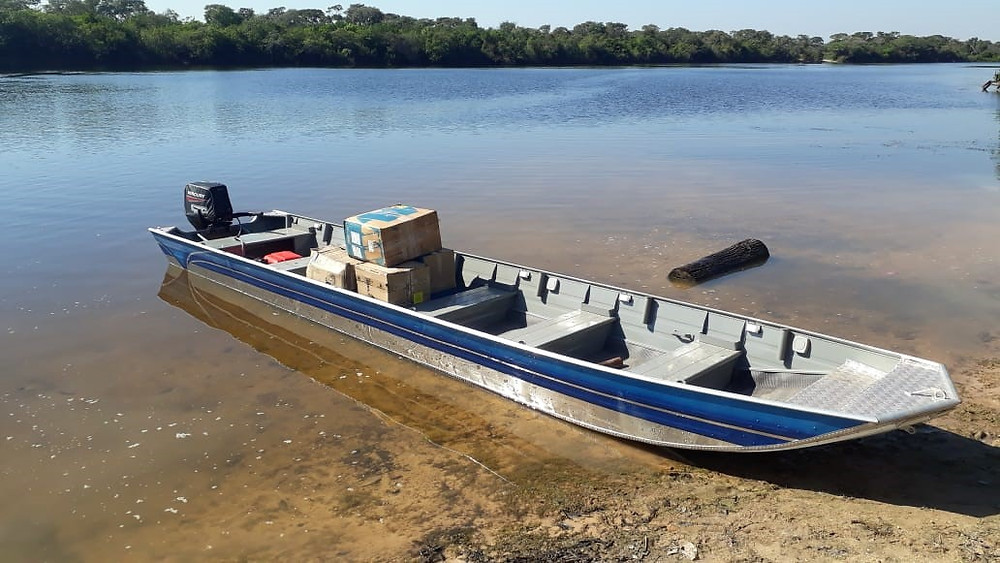 Boat for the reinforcement of the Prev-Fogo program fire brigades