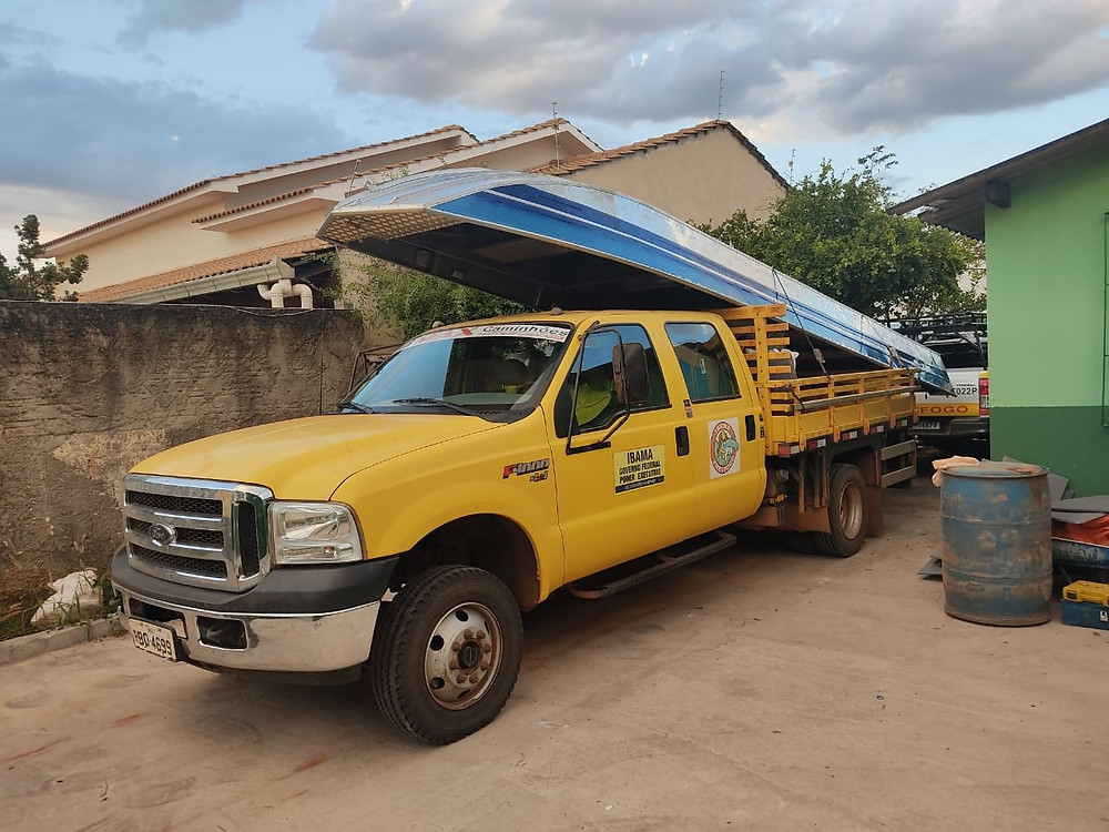 Delivery of the boat to IBAMA