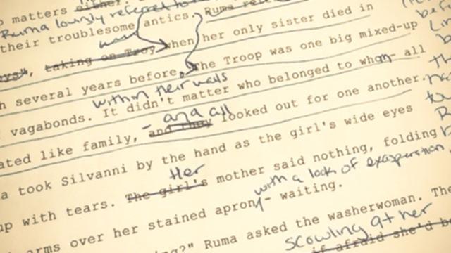 Handwritten editing notes on Songbird of Souls. #amediting @EverynKildare