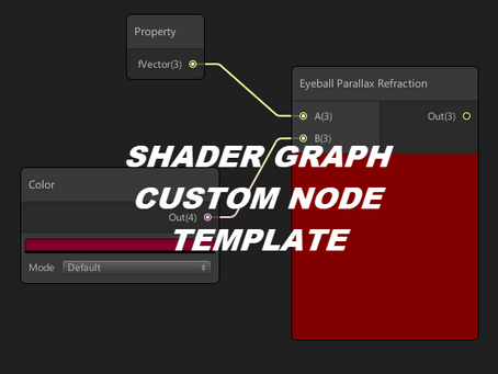 How to adding to Shader Graph custom node templates.