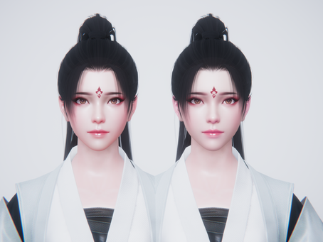 Chinese artists, they preferred seems like this skin shading style implementation.