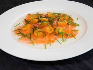 Gravlax of Arctic Char with Cherry Tomatoes