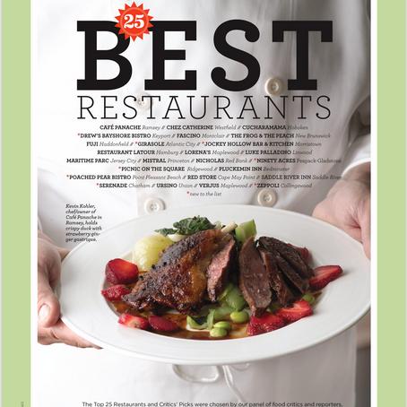 NJ Monthly - 25 Best Restaurants - Café Panache