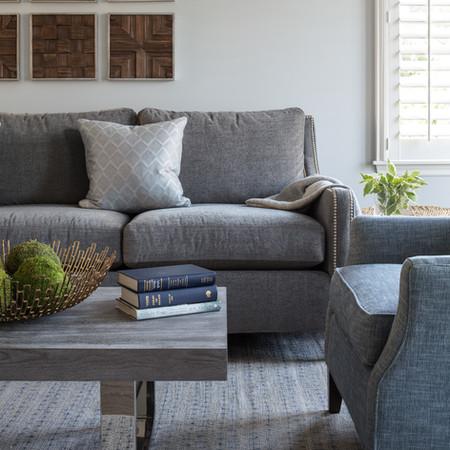 Family Room Upholstery Detail - Montvale, NJ