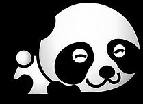 Panda Vector - Laying Down.png