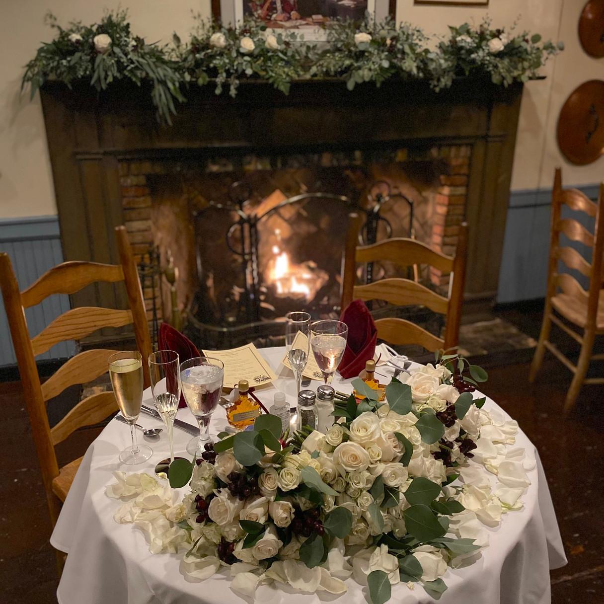 Wedding - Flowers on Table & Mantle - 76