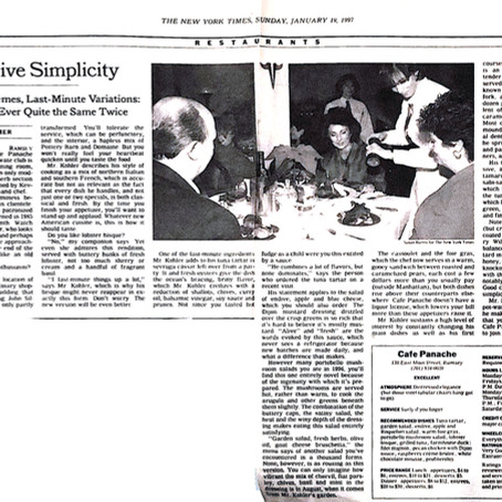 The New York Times - Excellent Dining Review