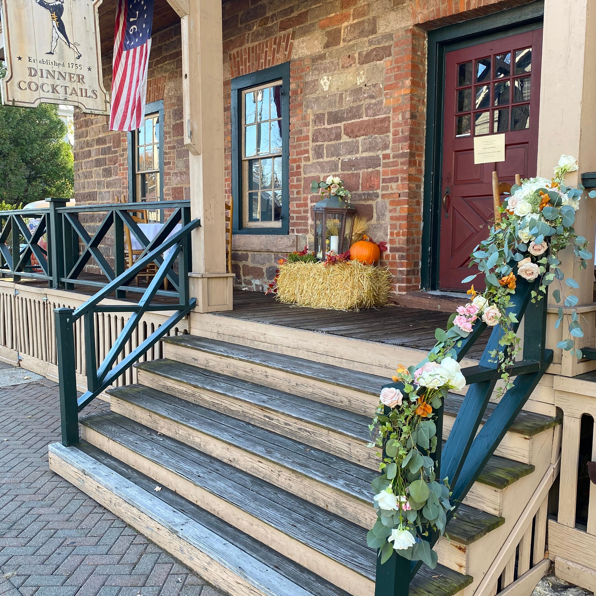 Wedding - Flowers at Outside Steps - 76