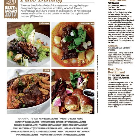 201 Best of Bergen 2017 - Café Panache Best Farm to Table Menu