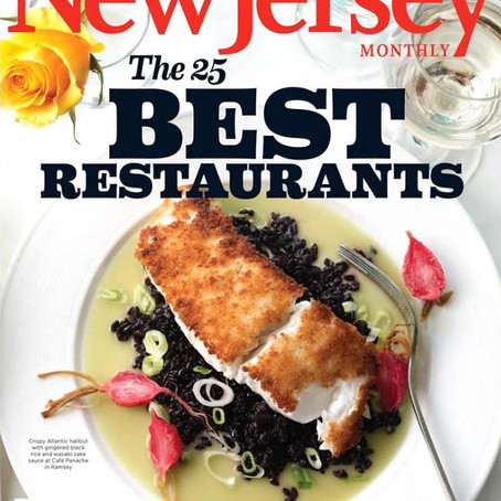 COVER - NJ Monthly - 25 Best Restaurants - Café Panache