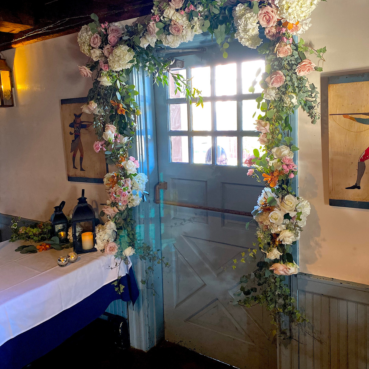 Wedding - Flowers on Door - 76 House.jpg