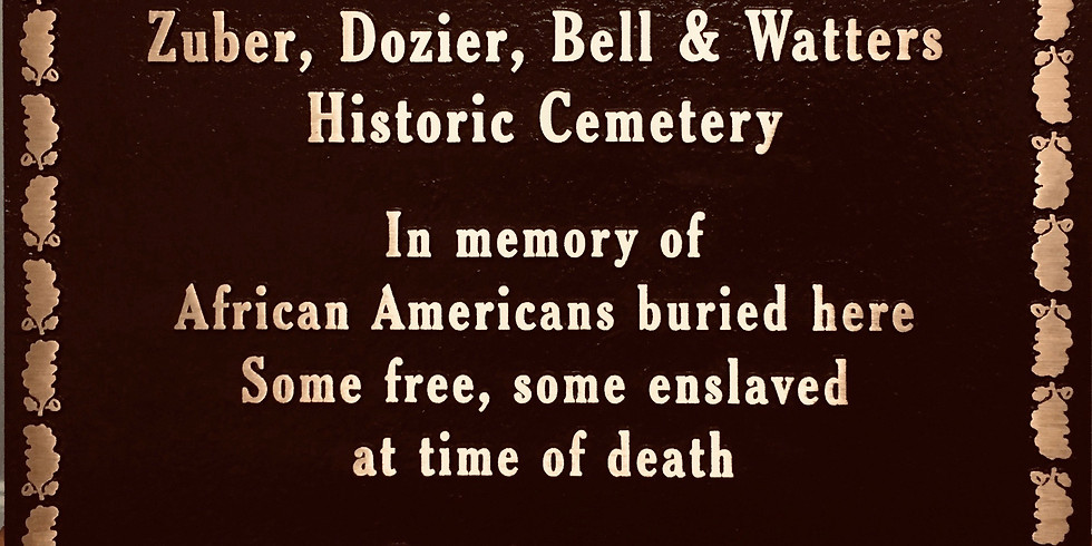 ZUBER CEMETERY MEMORIAL PLAQUE UNVEILING **Note time change to 1:00PM