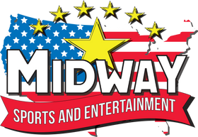 Midway Company Text with USA Map-flag wi