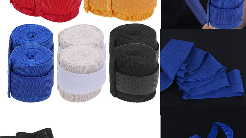2pcs 2.5m Cotton Box Sports Strap Boxing Bandage Boxing Hand Gloves Wraps