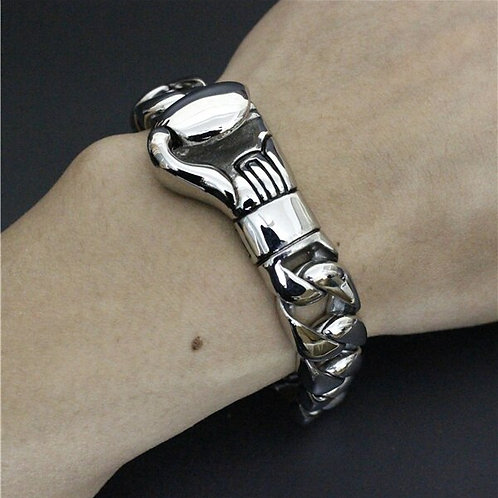 2017 Big Boxing Bracelet 316L Stainless Steel Fashion Jewelry Men Boy Heavy Boxi