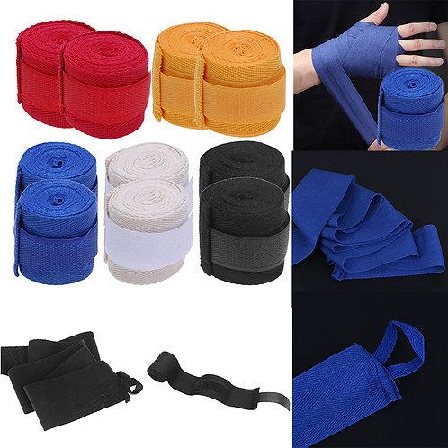2pcs 2.5m Cotton Box Sports Strap Boxing Bandage Sanda Muay Thai MMA Taekwondo H