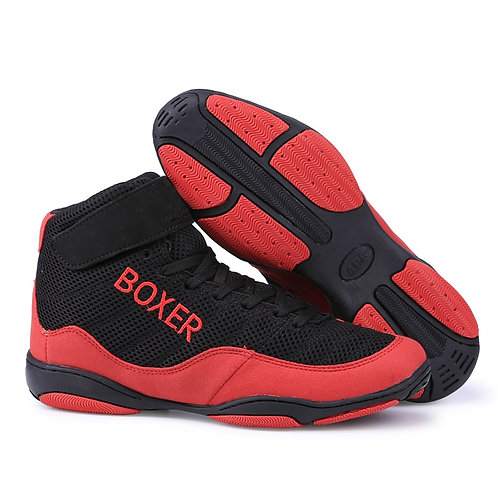 Men Professional Boxing Wrestling Fighting Weightlift Shoes Male Soft Breathable