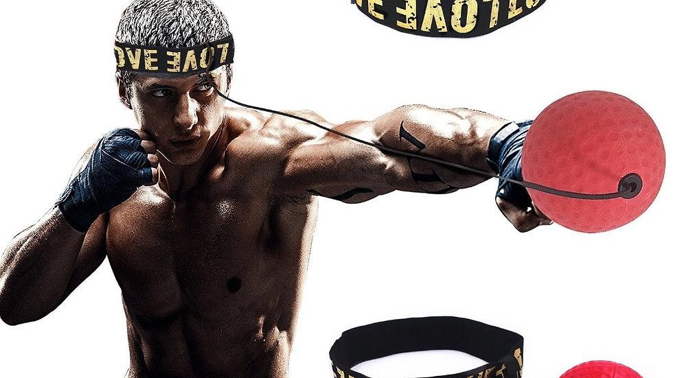 Boxing Reflex Speed Punch Ball  Boxer Reaction Force Hand Eye Training Set