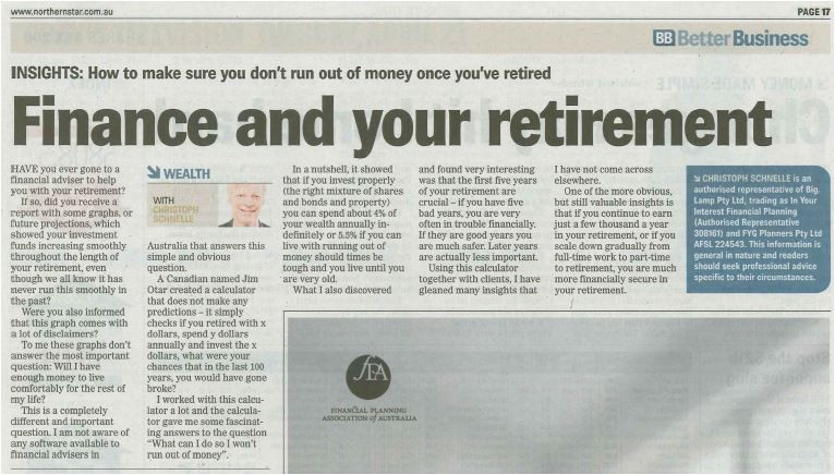 Finance retirement goonellabah