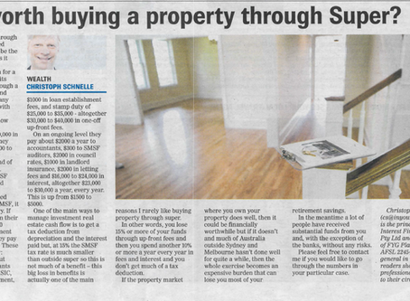 Is it worth buying a property through Super?