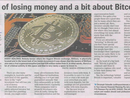 The art of losing money and a bit about Bitcoin