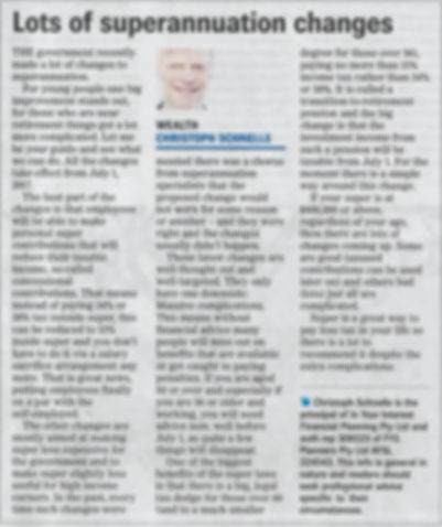 Christoph Schnelle Wealth Column
