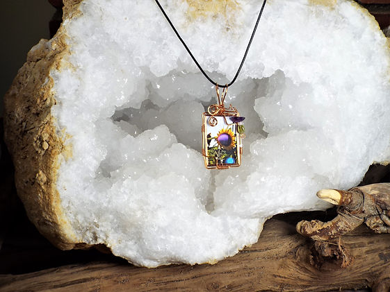 Mattituck Sunflowers Pendant