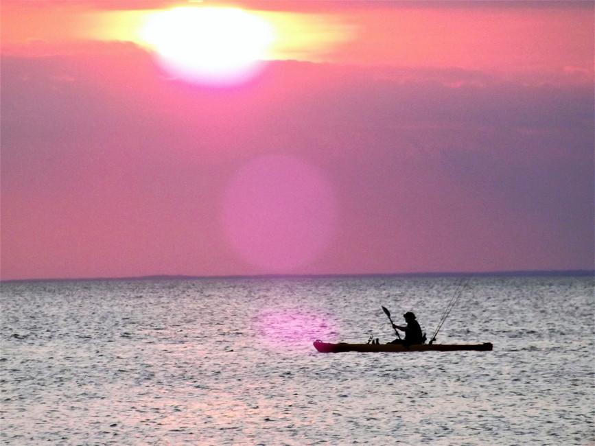 Kayaker Long Island Sound