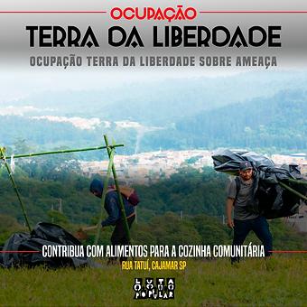 OCUPAÇÃO TERRA DA LIBERDADE SOBRE AMEAÇA