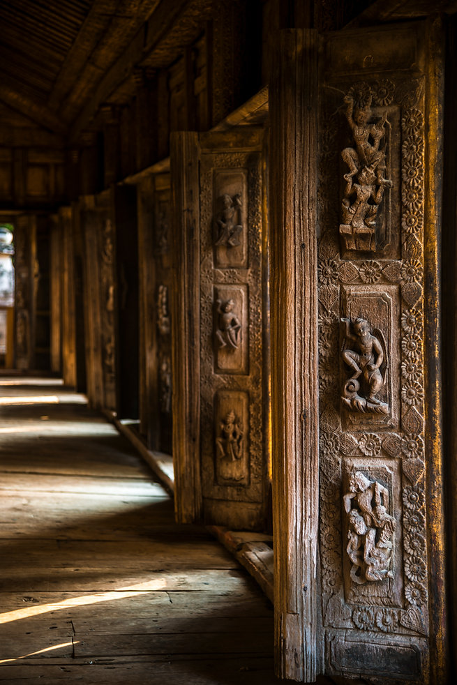 Wooden Carvings in a Monastery