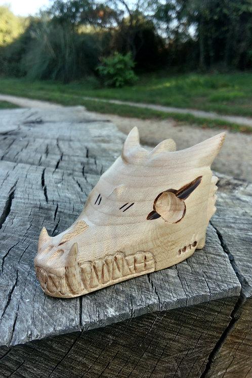Sculpture Tête de Loup - Dragon