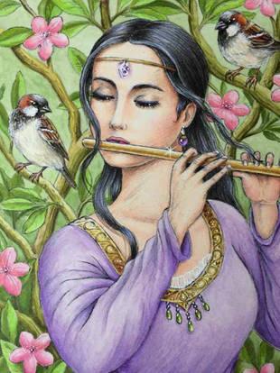 Lady Playing the Flute - Morena Vajak.jp