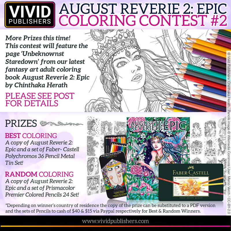 August Reverie 2 Epic Adult Coloring Contest