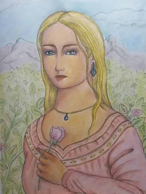Girl_with_a_Rose_-_Síomhaith_Ní_Daibhéid