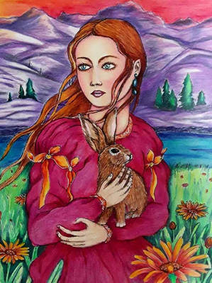 Lady_with_a_Rabbit_-_Brigitte_Bertrand.