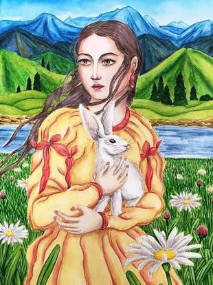 Lady with a Rabbit - color shmolor.jpg