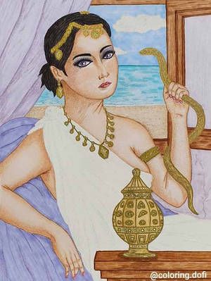 Death of Cleopatra - Coloring.jpg