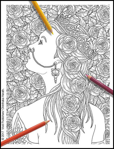 Garden Rose - Single Page - PDF format