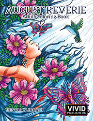 Adult Coloring Book August Reverie.  Paperback and PDF Download available now!