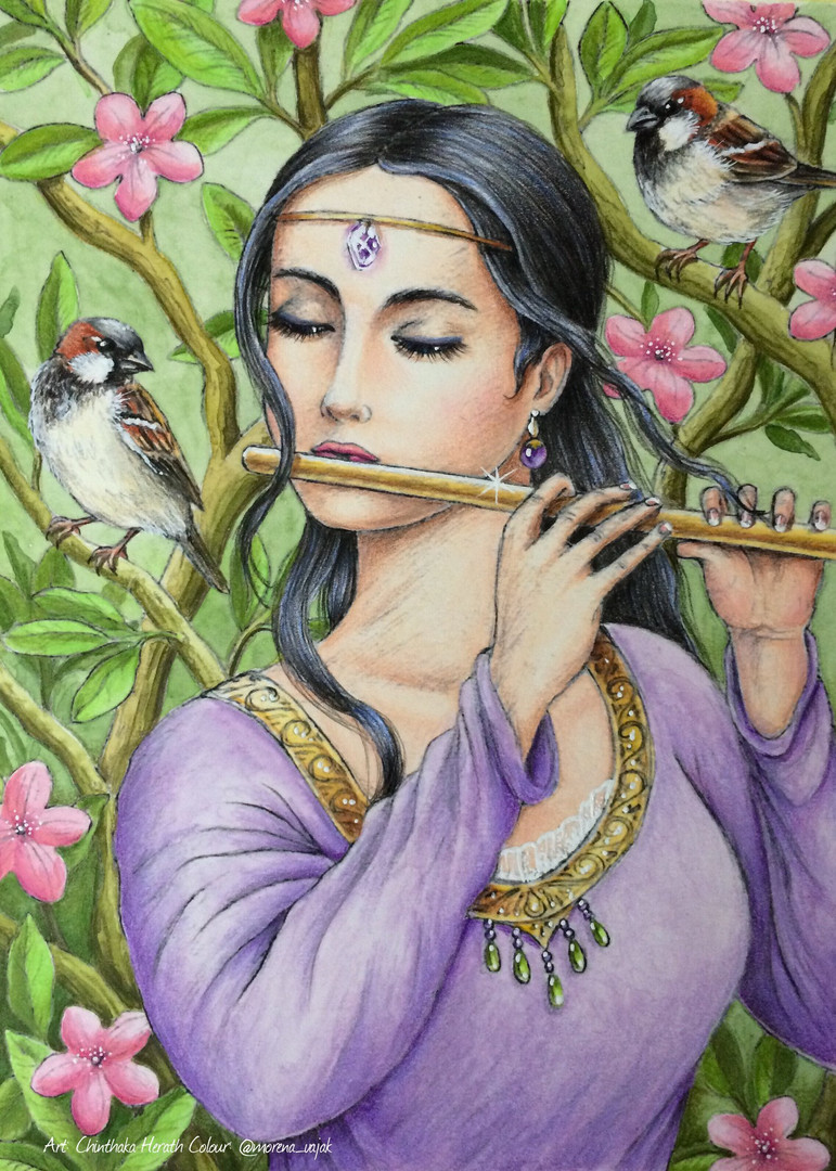 Lady Playing the Flute - Morena Vajak.jp