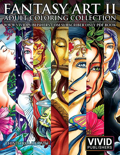 Fantasy Art 2 Adult Coloring Collection - E-Book / PDF format