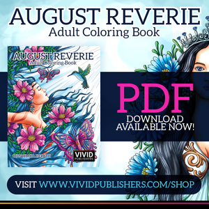 Adult coloring book August Reverie PDF download now available!