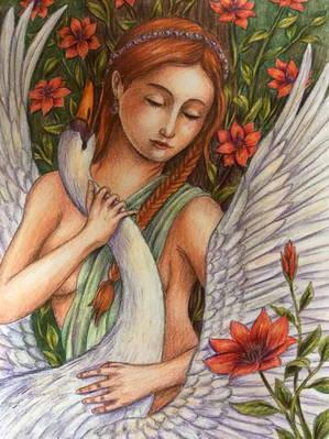Leda and the Swan - Anja Netkatze.jpg