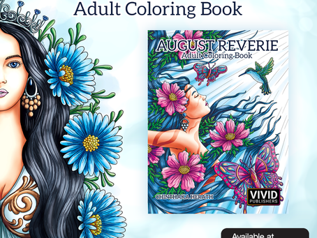 New Adult Coloring Book 'August Reverie' available now at Amazon