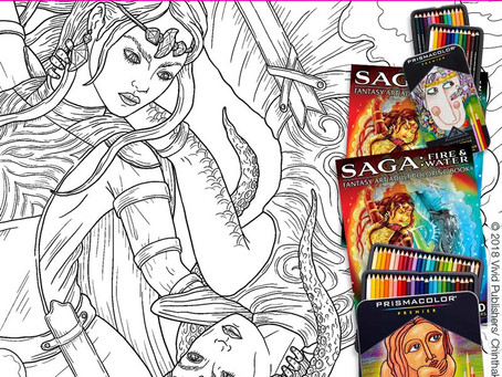 FREE Page from Saga: Fire & Water.  Vivid Publishers Coloring Contest #7